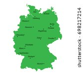 map of germany with main cities | Shutterstock .eps vector #698217214