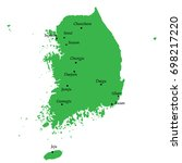 map of south korea with main... | Shutterstock .eps vector #698217220