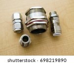 explosion proof cable gland on... | Shutterstock . vector #698219890