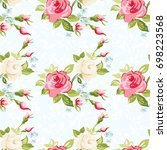 seamless floral pattern with...   Shutterstock .eps vector #698223568
