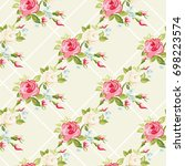 seamless floral pattern with...   Shutterstock .eps vector #698223574