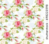 seamless floral pattern with...   Shutterstock .eps vector #698223598