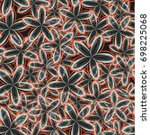 seamless pattern. abstract... | Shutterstock .eps vector #698225068