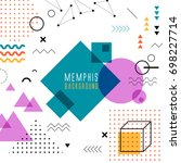 memphis colorful background.  | Shutterstock .eps vector #698227714