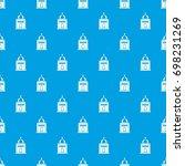 church pattern repeat seamless... | Shutterstock .eps vector #698231269