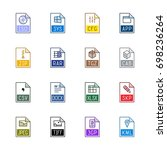 file type icons  miscellaneous  ... | Shutterstock .eps vector #698236264