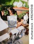 wedding decoration. | Shutterstock . vector #698240548