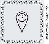map pointer with question sign... | Shutterstock .eps vector #698247928