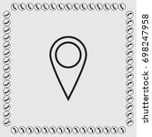 map pointer vector icon | Shutterstock .eps vector #698247958