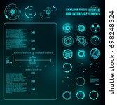 futuristic virtual graphic... | Shutterstock .eps vector #698248324