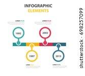 timeline infographics design... | Shutterstock .eps vector #698257099