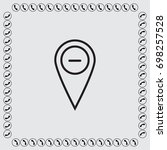 map pointer with plus sign icon ... | Shutterstock .eps vector #698257528