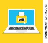 voting online concept. voting... | Shutterstock .eps vector #698259943