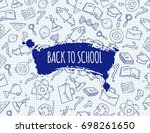 study pattern with school... | Shutterstock .eps vector #698261650