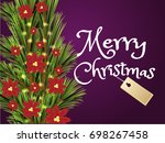 merry christmas holiday... | Shutterstock .eps vector #698267458