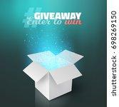 illustration of white box...   Shutterstock . vector #698269150