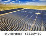 solar photovoltaic aerial view | Shutterstock . vector #698269480