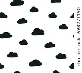 vector kids pattern with clouds.... | Shutterstock .eps vector #698271190