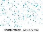 light purple vector polygon... | Shutterstock .eps vector #698272753