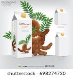 packaging design tamarind juice.... | Shutterstock .eps vector #698274730