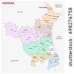 haryana administrative and... | Shutterstock .eps vector #698276758