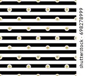 seamless silver dot glitter... | Shutterstock .eps vector #698278999