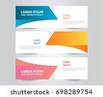 set of modern colorful banner... | Shutterstock .eps vector #698289754