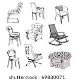 furniture. chair. sofa. modern  ... | Shutterstock .eps vector #69830071
