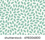 Stock vector leaves pattern endless background seamless 698306800