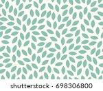leaves pattern. endless... | Shutterstock .eps vector #698306800