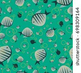 seamless nature pattern with... | Shutterstock .eps vector #698309164