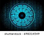 binary circuit future... | Shutterstock .eps vector #698314549