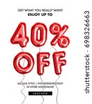 40  off discount promotion sale ... | Shutterstock . vector #698326663