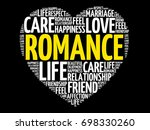 romance word cloud collage ... | Shutterstock .eps vector #698330260