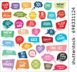 modern sale stickers and tags... | Shutterstock .eps vector #698331124