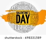 valentine's day concept heart... | Shutterstock .eps vector #698331589