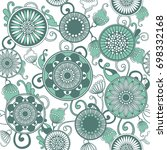 vector seamless floral pattern. ... | Shutterstock .eps vector #698332168
