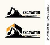 excavator and backhoe logo... | Shutterstock .eps vector #698333080