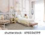 luxurious expensive interior... | Shutterstock . vector #698336599