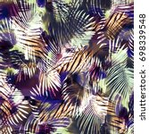 texture of print fabric ... | Shutterstock . vector #698339548