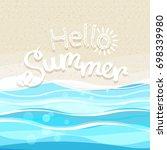 summer seaside vacation... | Shutterstock .eps vector #698339980
