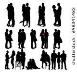 vector  isolated silhouette... | Shutterstock .eps vector #698341483