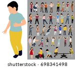 vector  isolated  collection of ... | Shutterstock .eps vector #698341498
