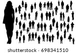 vector  isolated  silhouette of ... | Shutterstock .eps vector #698341510