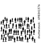 isolated people stand... | Shutterstock .eps vector #698341576