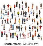 vector  isolated  silhouette... | Shutterstock .eps vector #698341594