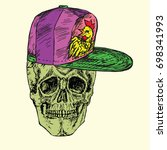Skull Front In Pink Cap With...
