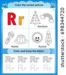 alphabet learning letters  ... | Shutterstock . vector #698344720