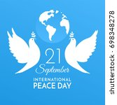 international peace day. peace... | Shutterstock .eps vector #698348278