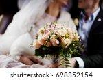 fabulous wedding couple posing... | Shutterstock . vector #698352154